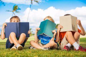 Grades 2-4 School Visit Kids Reading Books
