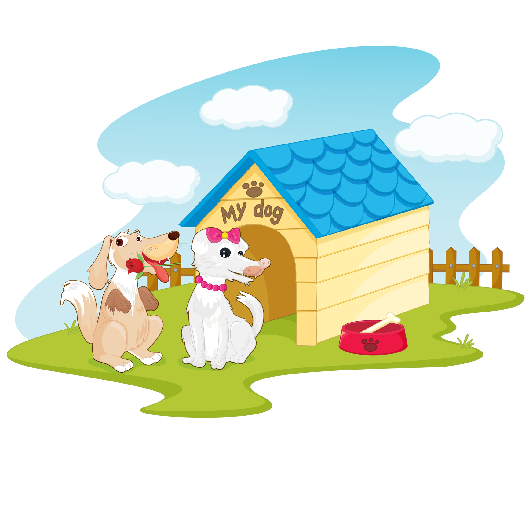 Dog's House, Dish and Bone