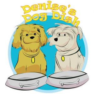 Denise's Dog Dish-Brown Paw
