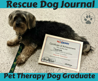 Rescue Dog Journal: Pet Therapy Graduate